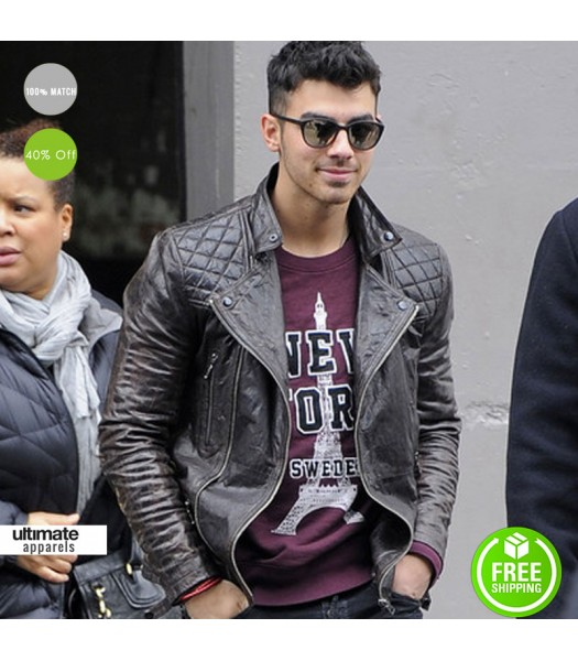 AllSaints Joe Jonas Leather Biker Jacket