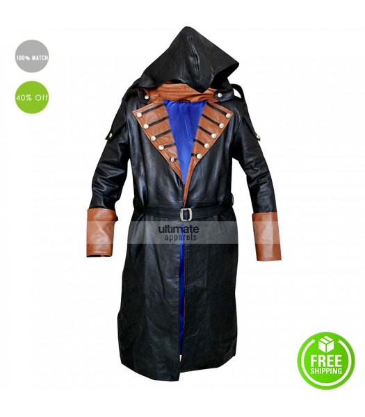 Assassins Creed Unity Arno Dorian Costume Trench Coat