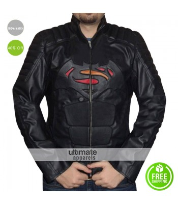 Batman Vs Superman Injustice DC Comics Black Real Leather Jacket