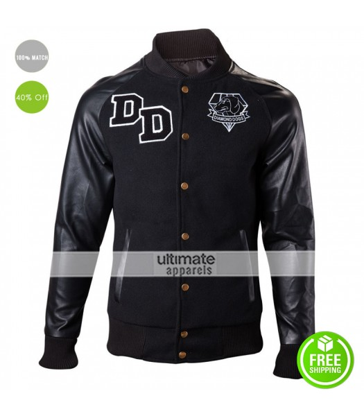 Big Boss Diamond Dogs Varsity Letterman Black Jacket