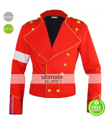 England Style Michael Jackson Red Informal Jacket