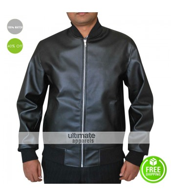 Neighbors Movie Zac Efron Black Bomber Jacket