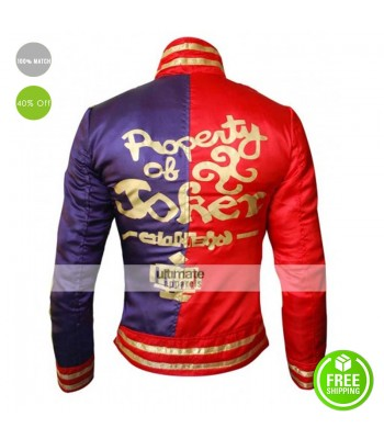 Property Of Joker Harley Quinn Fancy Costume Jacket