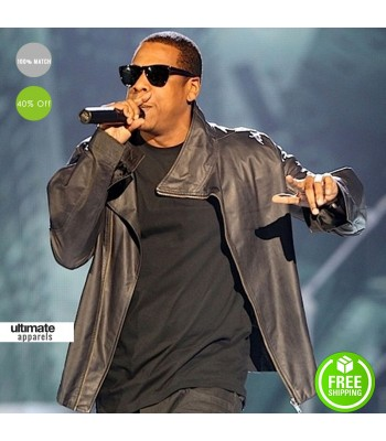 Rapper Jay Z In Rick Owens Leather Men Jacket