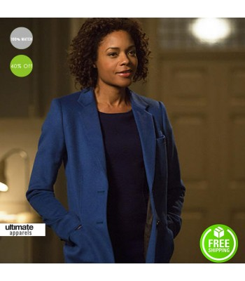Spectre Naomie Harris (Moneypenny) Blue WomenTrench Coat