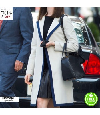 Anne Hathaway Intern Jules Ostin White Trench Coat