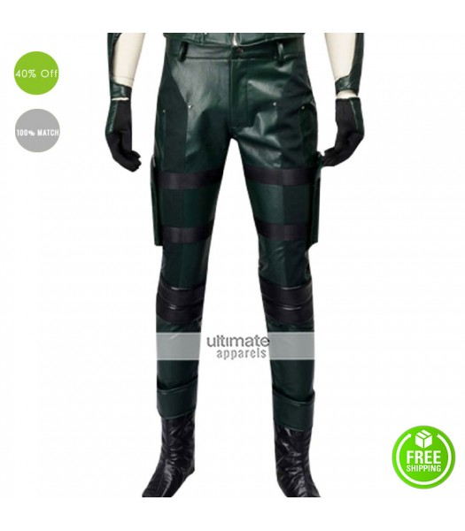 Arrow Stephen Amell (Arrow) Cosplay Leather Pants