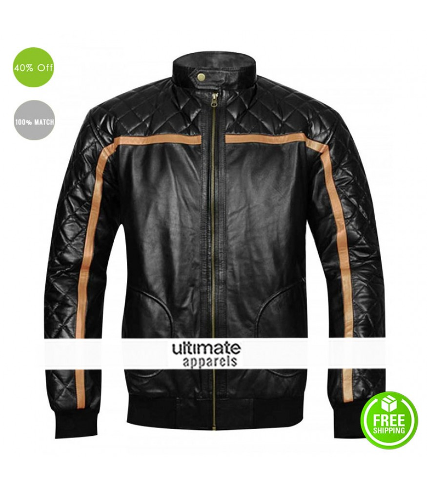 Battlefield Hardline Nick Mendoza Black Quilted Jacket