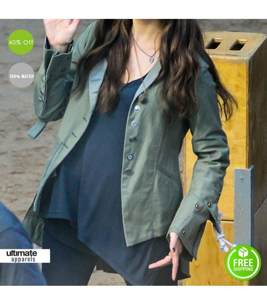 Civil War Elizabeth Olsen (Scarlet Witch) Green Jacket
