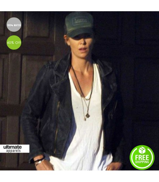 Dark Places Charlize Theron (Libby Day) Black Leather Jacket