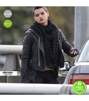 Deadpool Brianna Hildebrand Black Costume Jacket