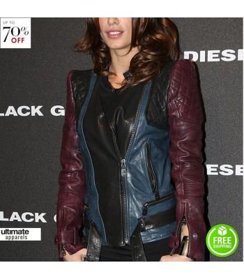Elisabetta Canalis Diesel Black Gold Fashion Show Jacket