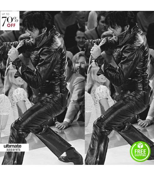 Elvis Presley Black Leather Trousers
