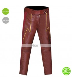 Flash Cosplay Slim Leather Costume Pants