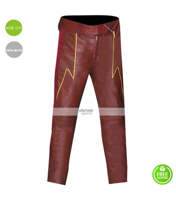 Flash Cosplay Slim Leather Costume Pants