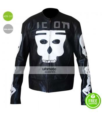 Icon Motorhead Skull Motorcycle White/Black Jacket