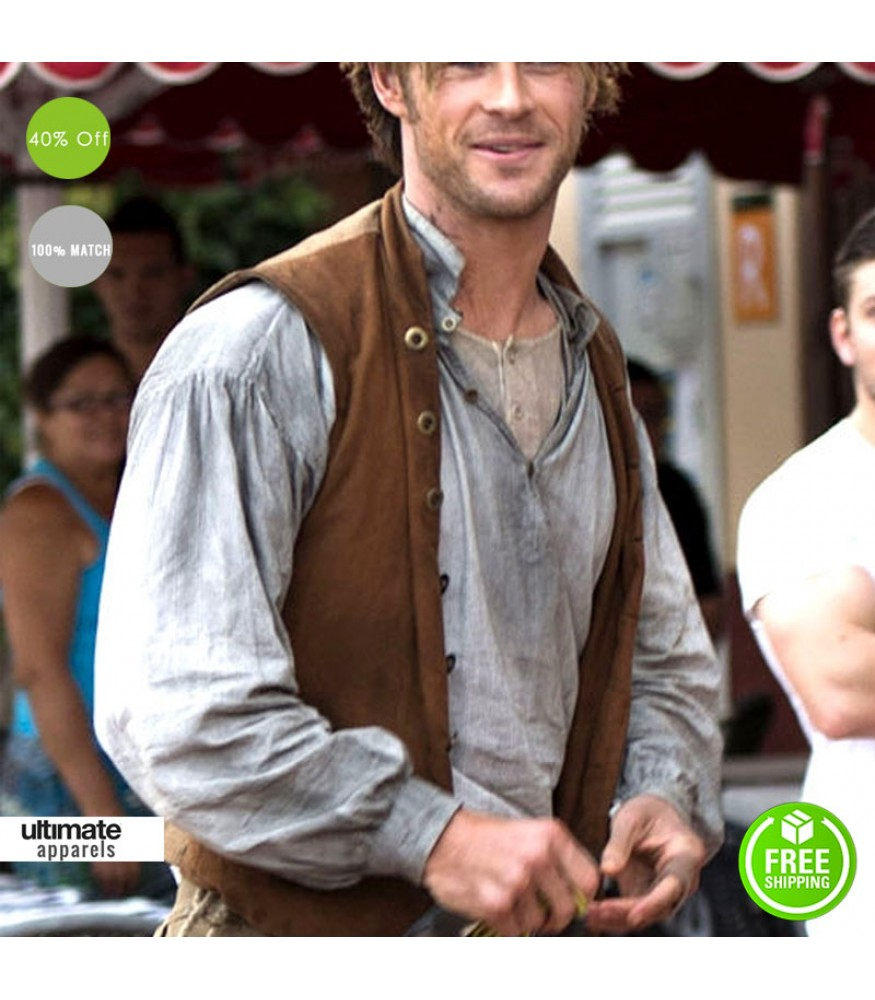 In The Heart Of The Sea Chris Hemsworth Brown Vest