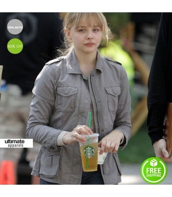 Kick-Ass 2 Chloe Grace Moretz (Hit Girl) Cotton Grey Jacket