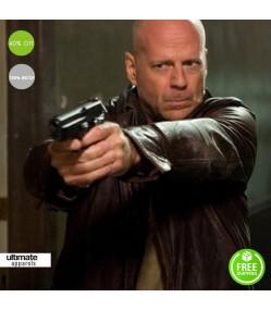 Looper Movie Bruce Willis Older Joe Leather Jacket