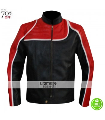 Max Payne Jack Lupino Red And Black Leather Jacket