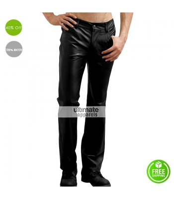 New Men Faux Leather Pant For Sale