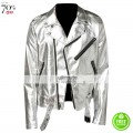 Silver Leather Jackets & Apparels