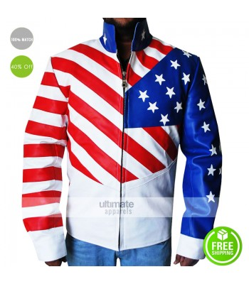 New Vanilla Ice American Flag Jacket