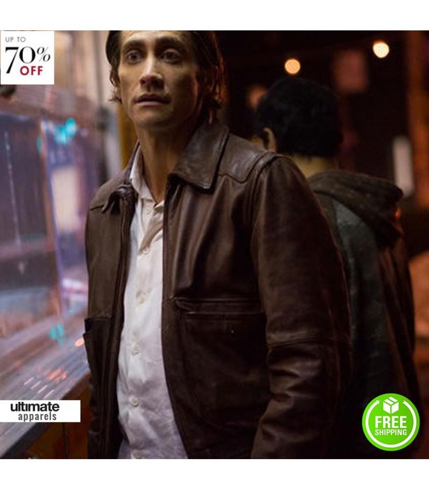 Nightcrawler Jake Gyllenhaal (Lou Bloom) Leather Jacket