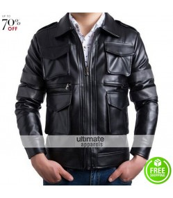 Resident Evil Faux Black Leather Jacket