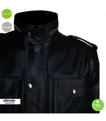 Shameless Justin Chatwin Black Leather Jacket For Sale