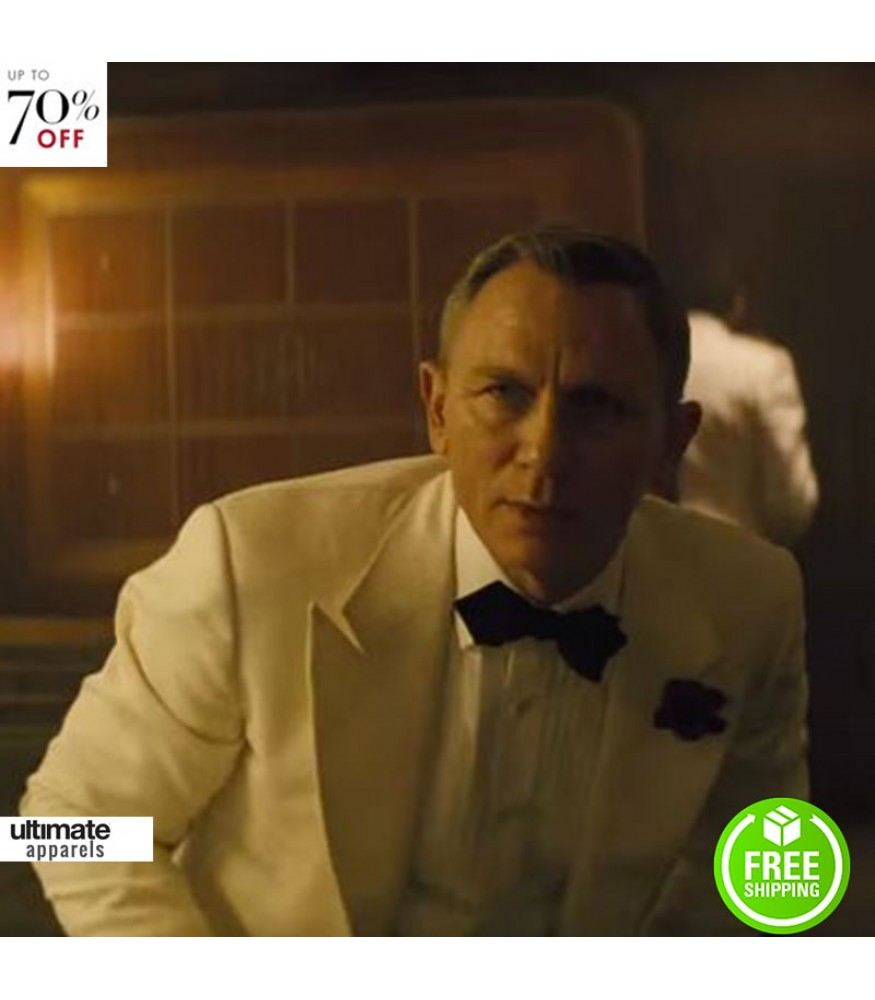 Spectre Daniel Craig (James Bond) White Tuxedo Jacket