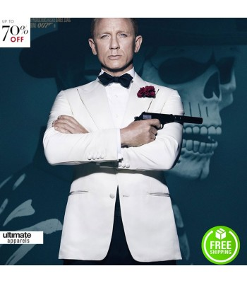 Spectre Daniel Craig (James Bond) White Tuxedo Jacket