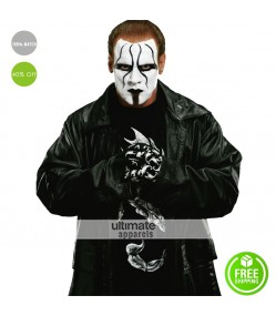 Sting Returns 2015 WWE Long Black Leather Coat