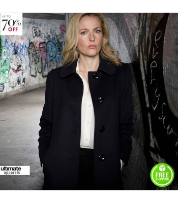 The Fall Gillian Anderson (Stella Gibson) Black Coat