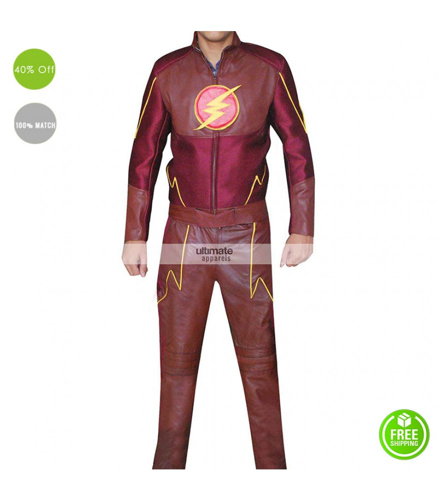 The Flash Grant Gustin (Barry Allen) Leather Jacket