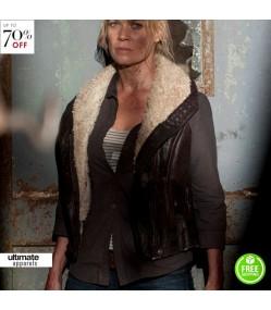 The Walking Dead Laurie Holden Andrea Fur Jacket