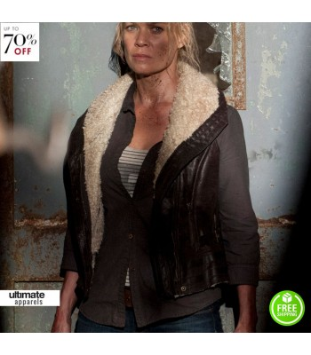 The Walking Dead Laurie Holden Andrea Fur Jacket