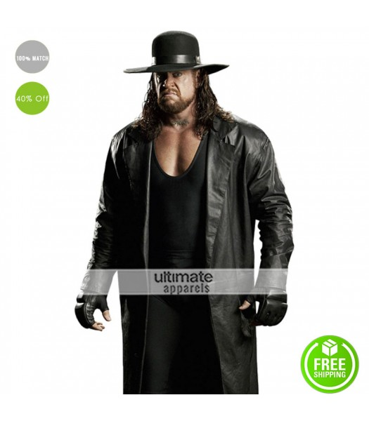 Undertaker WWE Replica Trench Leather Costume Coat
