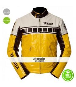 Yamaha Vintage Yellow Motorcycle Riding Jacket