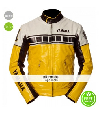 Yamaha Vintage Yellow Motorcycle Riding Jacket