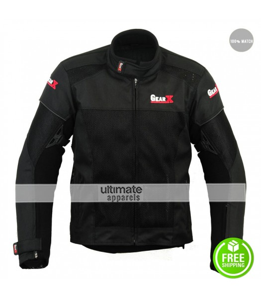 Air-Vent Gear X Motorbike Protective Black Jacket