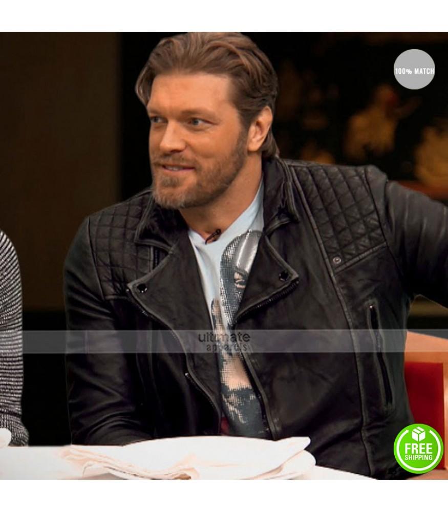 Edge WWE FastLane Quilted Black Leather Jacket