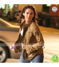 TMNT Megan Fox Ninja Turtles 2 Brown Jacket