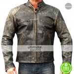 Antique Men's Vintage Distressed Retro Motorcycle Jacket
