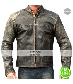 Antique Men's Hooligan Distressed Retro Leather Jacket