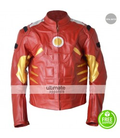 Mens Ironman Motorcycle Red Costume Jacket