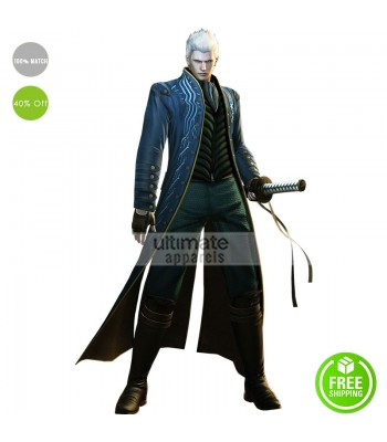 Devil May Cry 3 Game Vergil Costume Jacket