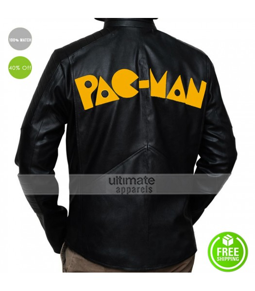 Pac-Man Game Leather Jacket For Men/Women