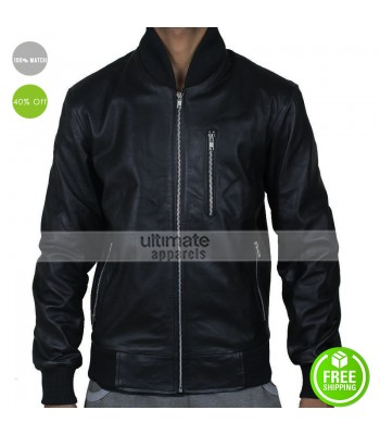 Point Break Edgar Ramirez (Bodhi) Black Bomber Jacket