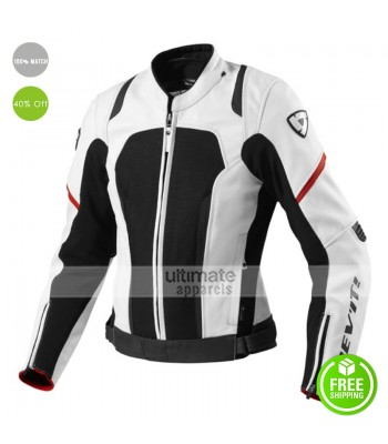 Rev'it Galactic Ladies White/Black Leather Jacket